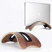 BELK Extensive Type Portable Kickstand Second-Gen Woodbook Bookbook pour MacBook et Ordinateur Portable générique, Lenovo ThinkPad Dell ASUS Laptop (Noix)