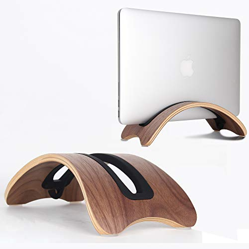Belk Laptop Ständer für Notebook Stand, BookArc aus Holz der zweiten Generation für MacBook Air 13/MacBook Pro/Retina/Lenovo Yoga, Y50, ThinkPad, Dell-Laptop XPS, Venue, Inspiron und ASUS Laptops - Apple Pro Schreibtisch Macbook