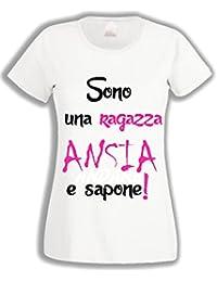 L Arcobaleno di Luci T-Shirt Donna - Sono Una Ragazza Ansia e Sapone 1501c090e715