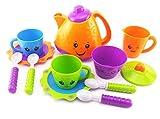 Lomire Tee Set Spielzeug Teeservice Kaffeeservice Kunststoff Rollenspiele Kinderküche für Kinder Mädchen Jungs 3 Jahre alt (Lila)