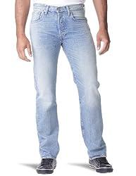 Levi's® Herren Jeans  Normaler Bund 501, Button Fly 00501 WATERLESS,  Blau (Blue Sand 1314) Gr. 30/32
