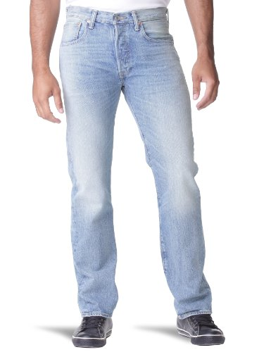 Levi's® Herren Jeans  Normaler Bund 501, Button Fly 00501 WATERLESS,  Blau (Blue Sand 1314) Gr. 32/36 Button-fly