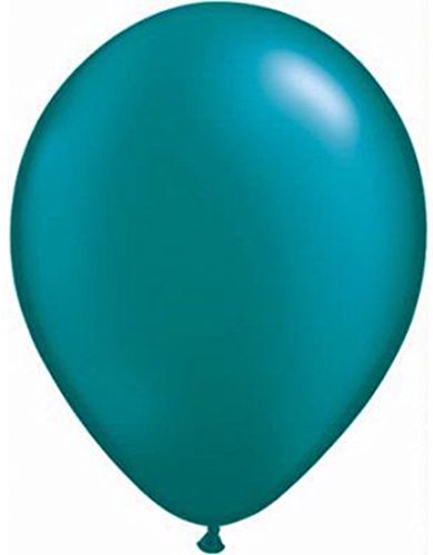 Teal Balloons 12 inch Latex (50 Pack) Plain Pearlised Metallic Extra Thick Long Lasting 3.2gms