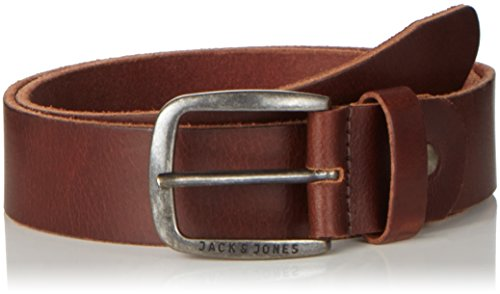 JACK & JONES JJIPAUL JJLEATHER BELT NOOS, Cinturón Hombre, Marrón (Black Coffee), 95 cm (Talla del fabricante: 95)