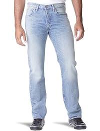 Levi's - Jeans - 501 Original Straight Fit -  Homme - Bleu - FR : W32/L36 (Taille fabricant : W32/L36)