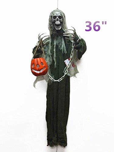 loween Ghost Zum Aufhängen mit Laterne Haunted House Dekoration - Ideal für Haunted Houses, Home Decor, Rasen Decor und Backyard Parteien - 91,4 cm ()