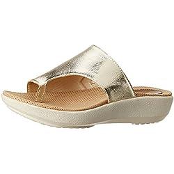 Catwalk Women's Gold Slippers - 8 UK/India (40 EU)