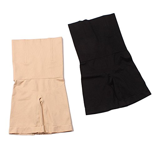 KOOYOL Damen Miederslip mit Bauch-Weg-Effekt Mieder Butt Lifter Shaper figurenformend Shapewear Schwarz