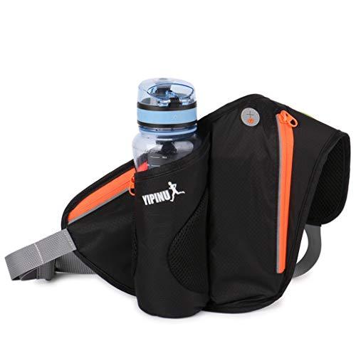 Winkey Hüfttasche,Sport Trinkflaschenhalter Gürteltasche zum Laufen Joggen Radfahren und alle Outdoor-Aktivitäten, Männer- und Frauentaschen (Schwarz)