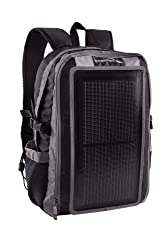 GoEnerplex PK-Alpha-GY Portable Solar Backpack Charger (3 Watt) Black