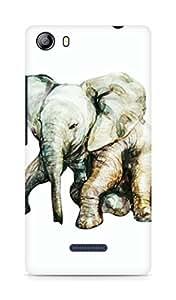 Amez designer printed 3d premium high quality back case cover for Micromax Canvas 5 (E481) (Little elephant)