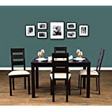 HomeTown Walton Solid Wood Four Seater Dining Set in Cappuccino Colour