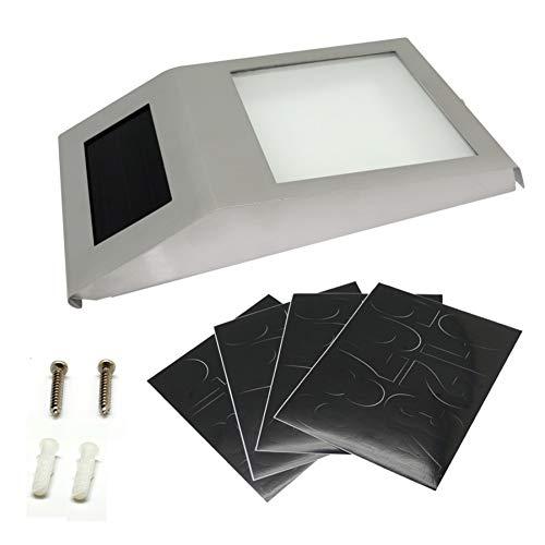 XLCJDJ Solarleuchte Wohnung Solar Lampe Tür Wand Led Lichter Anzeige Wasserdichte Türschild Lampen Platte Lichter Hausnummer Für Haus Tür -