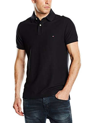 Tommy Hilfiger Herren Poloshirt 50/2 PERFORMANCE POLO S/S SF, Gr. X-Large, Schwarz (NEW BLACK 060)
