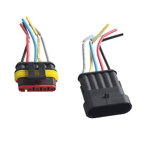 Mintice™ 5 vie Pin kit presa auto auto impermeabile connettore elettrico con AWG calibro marino