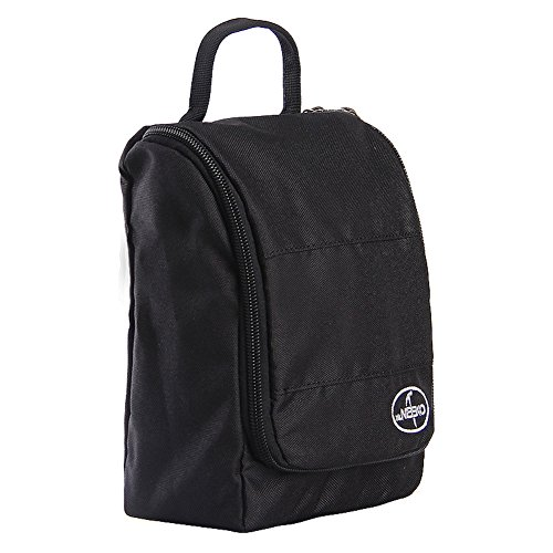 Sac de lavage de voyage/Sac à cosmétiques imperméable à l'eau portable entreprise/Voyages plein air sac de rangement-noir