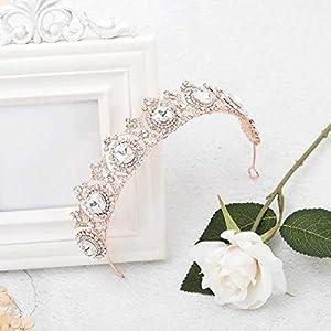 simsly Hochzeit Tiara Brautschmuck Blumen Kronen für Frauen hg-25