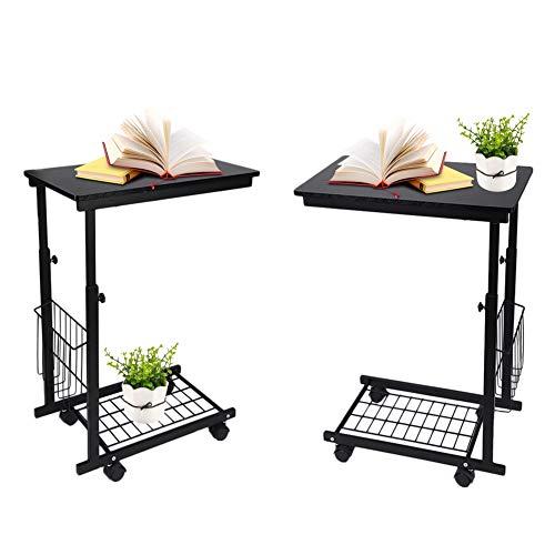 Ausla Laptop-Tisch mit Rädern, Multifunktionstisch für Laptop und Rollen, höhenverstellbar 23,6-31,5 Zoll