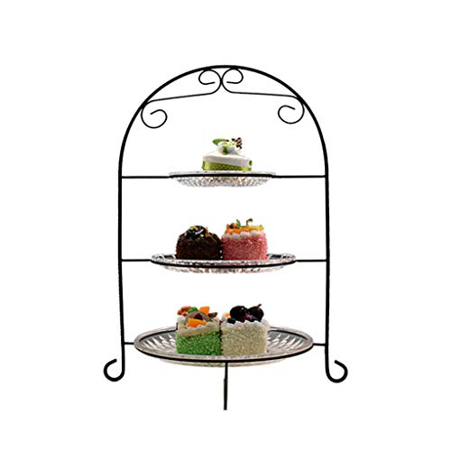 WEIBINGLIU Obstteller-Imbiss-Stand-Nachtisch-Kuchen-Regal-kreative Frucht-Teller-Gebäck-Frucht-Behälter-Süßigkeits-Teller - Imbiss-stand