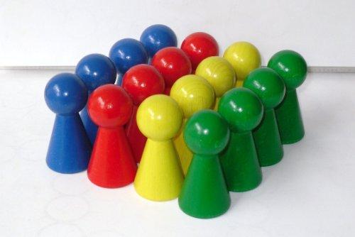16 Figurenkegel , Spielfigur 'Titan',Halmakegel aus Holz 60 mm-Spielset