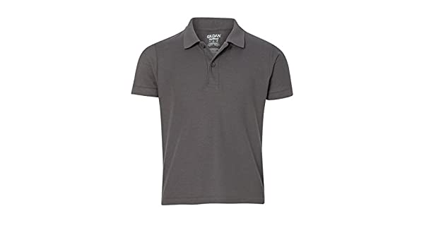 -Maroon -M-12PK Gildan Boys DryBlend 6.3 oz Double Piqu/é Sport Shirt G728B