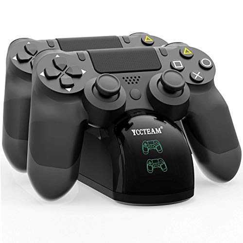 PS4 Controller Charger, Dual USB Fast Charging PS4 Controller Charging Station for Sony Playstation 4/PS4/PS4 Slim/PS4 Pro Controller