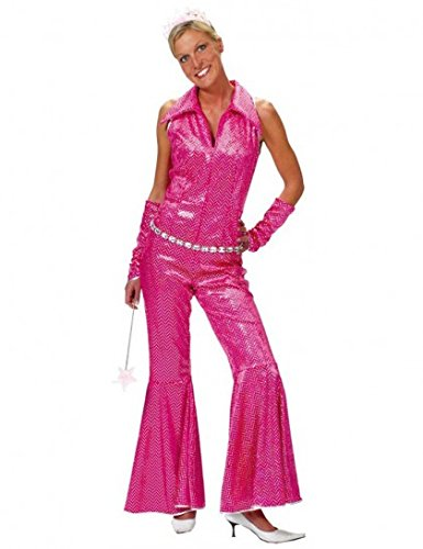 Funny Fashion 508087-36/38 - Disco Jumpsuit rosa, Größe 36/ 38