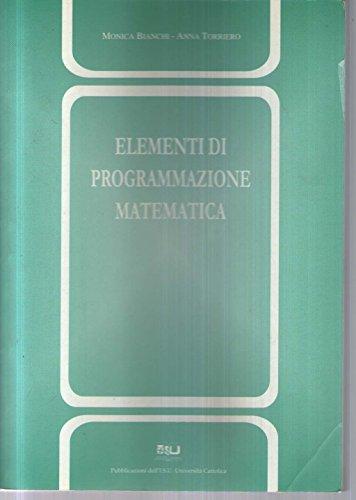Elementi di programmazione matematica