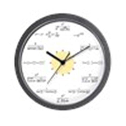 CafePress U2013 Mathe Uhr (weiß Mit Gelb Center) Wanduhr U2013 Einzigartiges  Dekorative Wanduhr 25