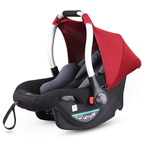 beige CANGAROO YKO705 Kindersitz Babyschale Apollo Gruppe 0+ YKO-705 mit Sonnendach 0 bis 13 kg Fu/ßsack