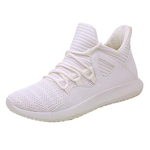 Sneaker Herren Weiß,Dasongff Atmungsaktiv Laufschuhe,Turnschuhe Männer Low-Top Fitnessschuhe Sportschuhe,Classic Mesh Sport Schnürer Schuhe