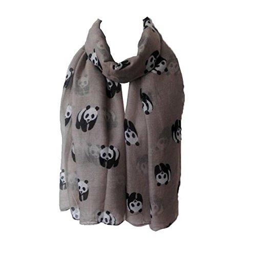 Bali Garn Panda Schal, Oyedens Frauen-Dame Panda Print Schal Voile Rechteck Schal...