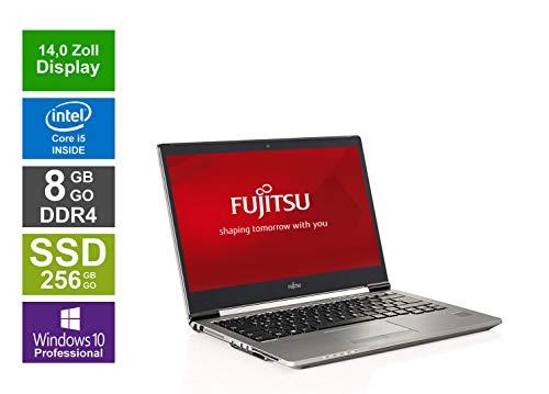 Fujitsu Notebook | Lifebook U747 | 14 Zoll Full HD Display | Intel Core i5-7200U @ 2,5 GHz | 8GB DDR4 RAM | 256GB SSD | Windows 10 Pro vorinstalliert (Zertifiziert und Generalüberholt)