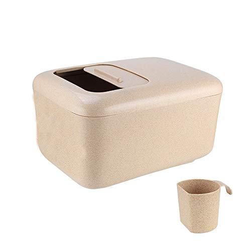 TYI Großer Vorratsbehälter für Lebensmittel Kreative Küche Reis Eimer 12 kg Großraumwaage Logo Home Push-Pull-Abdeckung Arbeitssparende Riemenscheibe Für Trockenfutter Mehl Reis Logo-pull