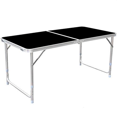 HOMFA Table de Camping Portable Table Buffet Traiteur Pliante Hauteur Réglable Table de Pique-nique...