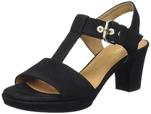 Gabor Shoes Damen Comfort Offene Sandalen , Schwarz (Schw.(Gold/Absobl) 47), 40 EU