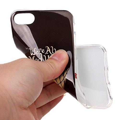 BONROY® Silikon Handy hülle für iPhone 7 (4,7 Zoll) TPU Gummi Taschen Weich Soft Back cover,TPU Silikon Gemalt Muster Handytasche Weiche Zurück Tasche Etui Bumper Kratzfeste Soft Back Cover für iPhone Zahn