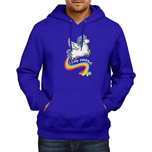 NERDO - I poop Rainbows - Herren Kapuzenpullover, Größe XL, (Sushi Niedliche Kostüm)