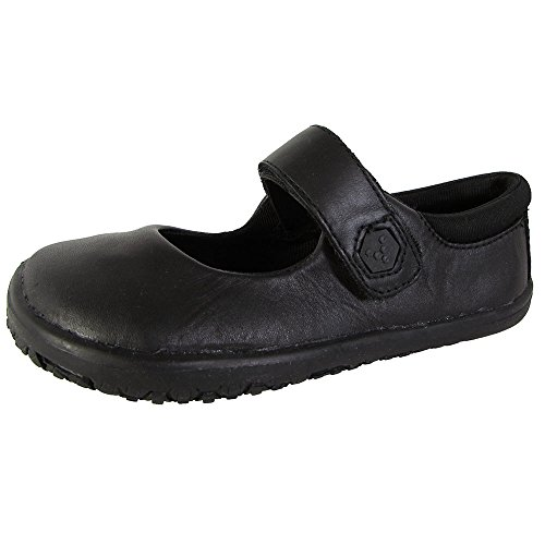 Vivo Barefoot Pally G, Mocassins fille Noir - Noir
