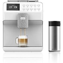 Cecotec Power Matic-ccino 7000 Touch Serie Bianca, Cafetera Megautomática, Depósito leche, Pantalla táctil, Café personalizable, Tecnología ForceAroma, 19 bares presión, Blanca