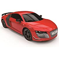 Price comparsion for CMJ RC Cars AUDI R8 GT, Official Licensed Remote Control Car for Kids with Working Lights, Radio Controlled RC Car Boys Girls Toys 1:24 Model, 2.4Ghz Race 10+ Cars Together (RED)