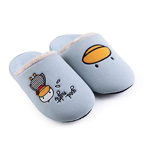 Inverno pantofole donna uomo unisex home morbido antiscivolo caldo confortevole ciabatte da casa caldo, azzurro_43 / 44 indoor outdoor home scarpe