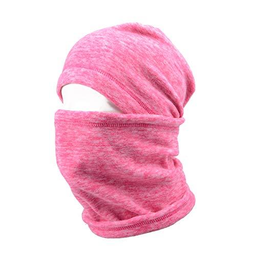 TRIWONDER Balaclava Hood Hat Thermal Fleece Gesichtsmaske Nackenwärmer Winter Ski Maske Full Face Cover Cap (Rosenrot - 17)