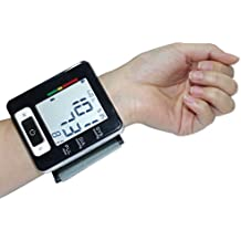 Euph Tensiomètre Electronique Poignet Numérique Automatique Connecté avec Brassard et Écran LCD Affichage d'Alertes d'Hypertension pour 2 Utilisateurs ( Noir )