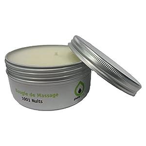 Massagekerze 1001 Nacht, 100 % pflanzlich, ohne Parabene, lange Lebensdauer