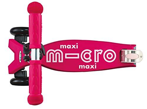 Micro Maxi Deluxe, Patinete 3 Ruedas, 5-12 Años, Carga Máx 70kg, Peso 2,5kg (Rosa)