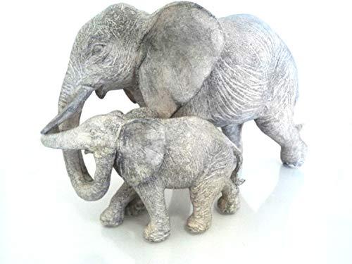 Vintage elefante, color gris figura decorativa regalo