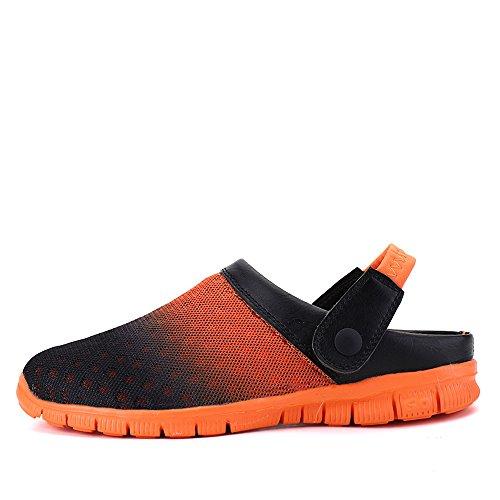 Bwiv Herren/ Damen Clogs Hausschuh Badeschuhe Gartenschuhe Umweltfreundlich Leicht EVA Sohle Mit Wasserdicht Schuhe Tasche Orange