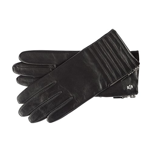 Roeckl Damen Handschuhe 13012-328, Schwarz (Black 000), 8 (Schaf-leder-schuhe)