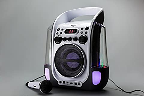 Goodmans XB12CDG Cd-G Water Fountain Karaoke System With Led Light